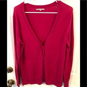 Gap Berry Colored Cardigan. XL